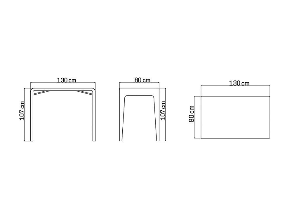 Mesa de comedor alta Journey Skyline Design - 7