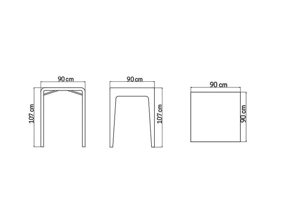 Mesa de comedor alta Journey Skyline Design - 6