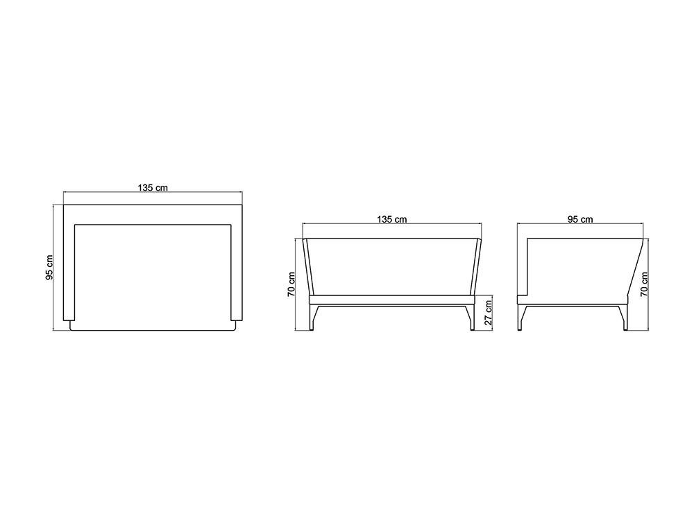 Sofá y sillón Brafta Skyline Design - 28