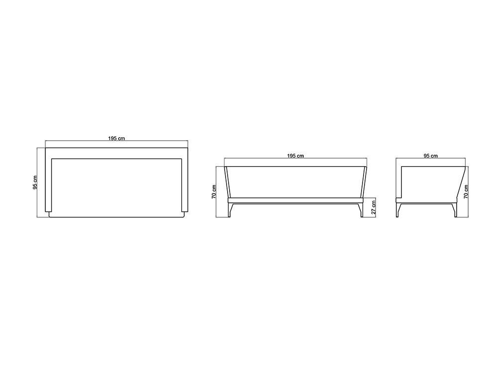Sofá y sillón Brafta Skyline Design - 29