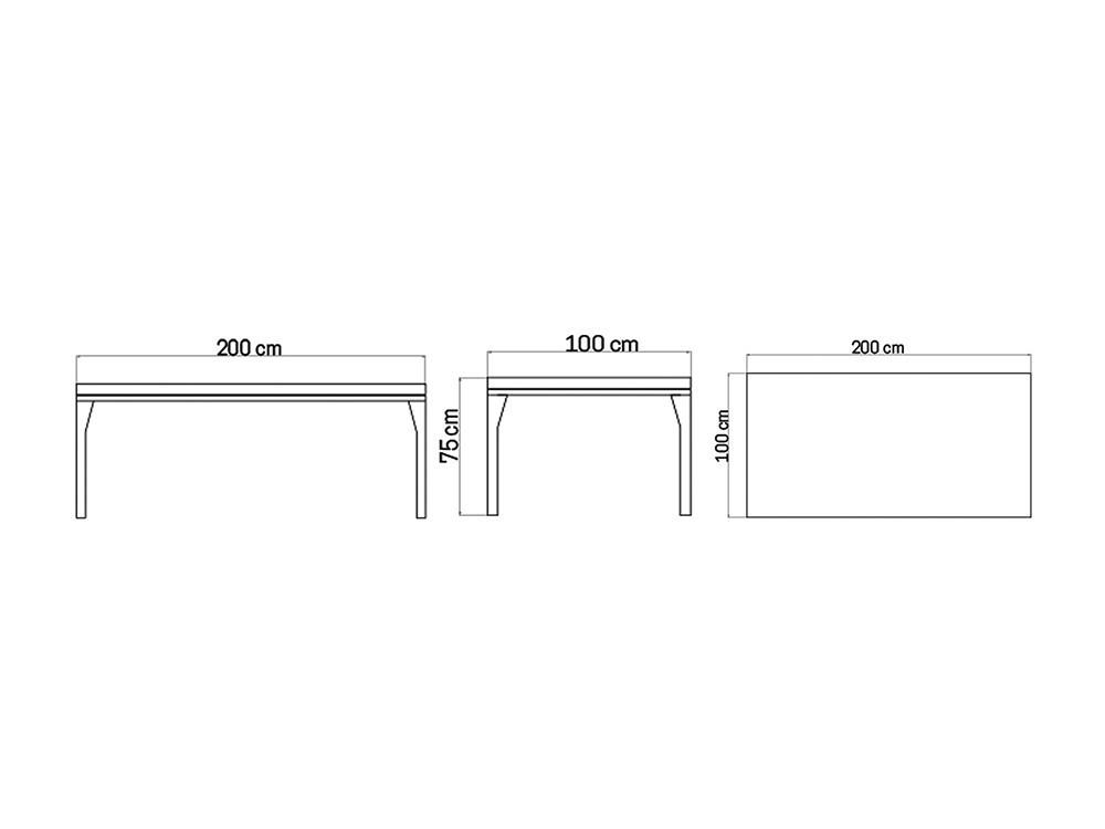 Mesa de comedor Brafta Skyline Design - 14