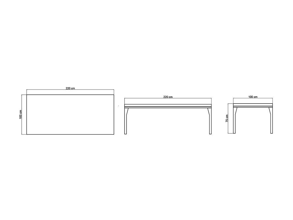 Mesa de comedor Brafta Skyline Design - 15