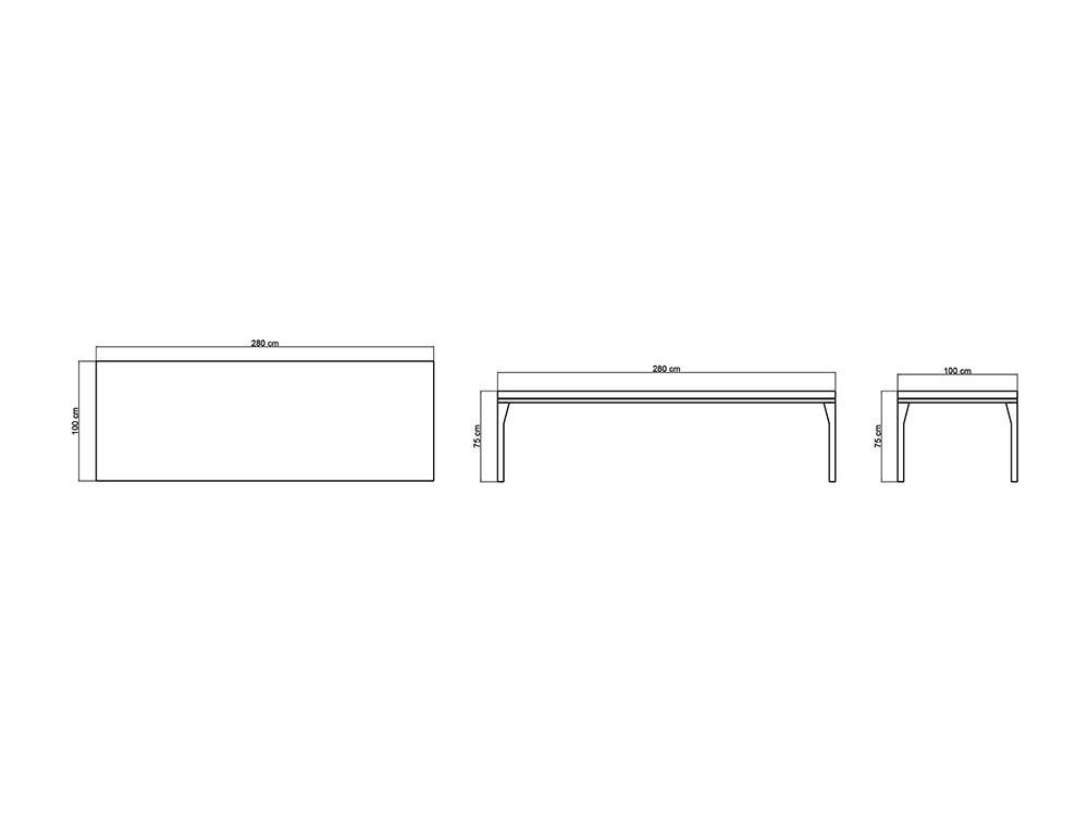 Mesa de comedor Brafta Skyline Design - 16