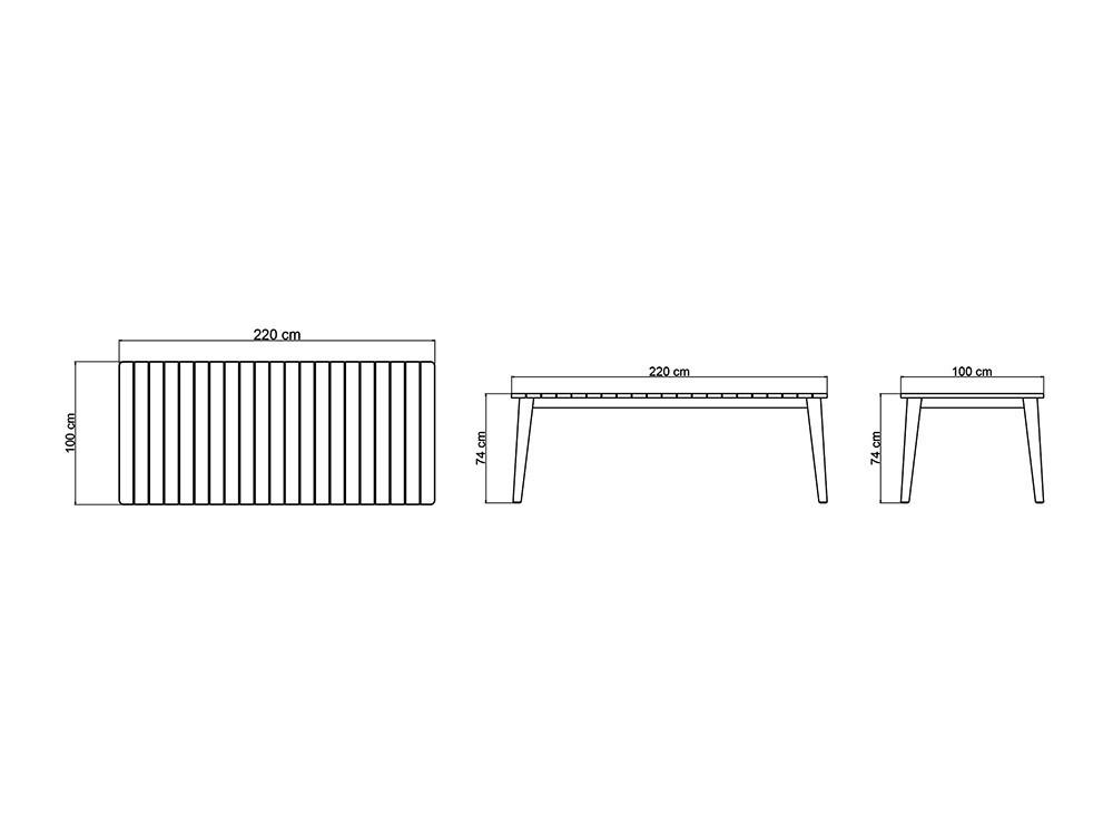 Mesa de comedor Pob Skyline Design - 9