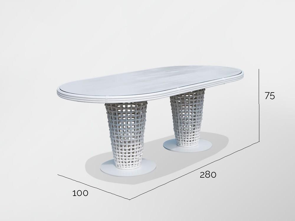 Mesa de comedor Dinasty Skyline Design - 8