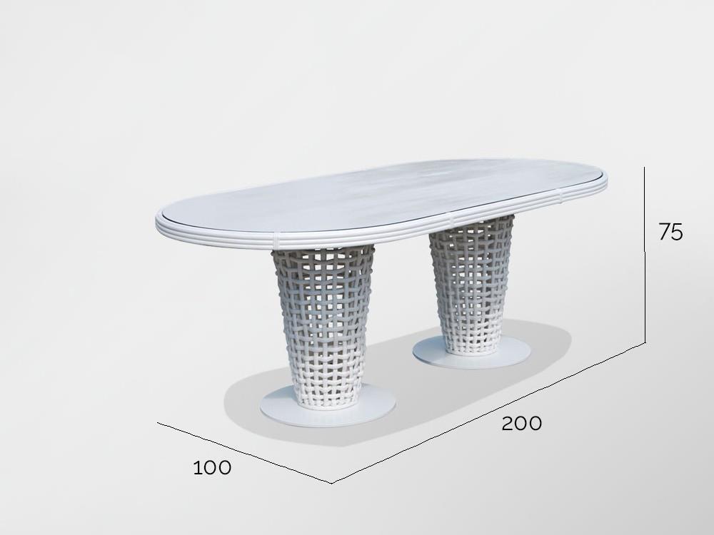 Mesa de comedor Dinasty Skyline Design - 7