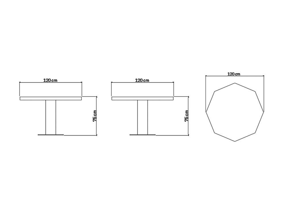 Mesa de comedor Dinasty Skyline Design - 10