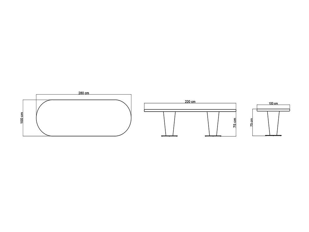 Mesa de comedor Dinasty Skyline Design - 11