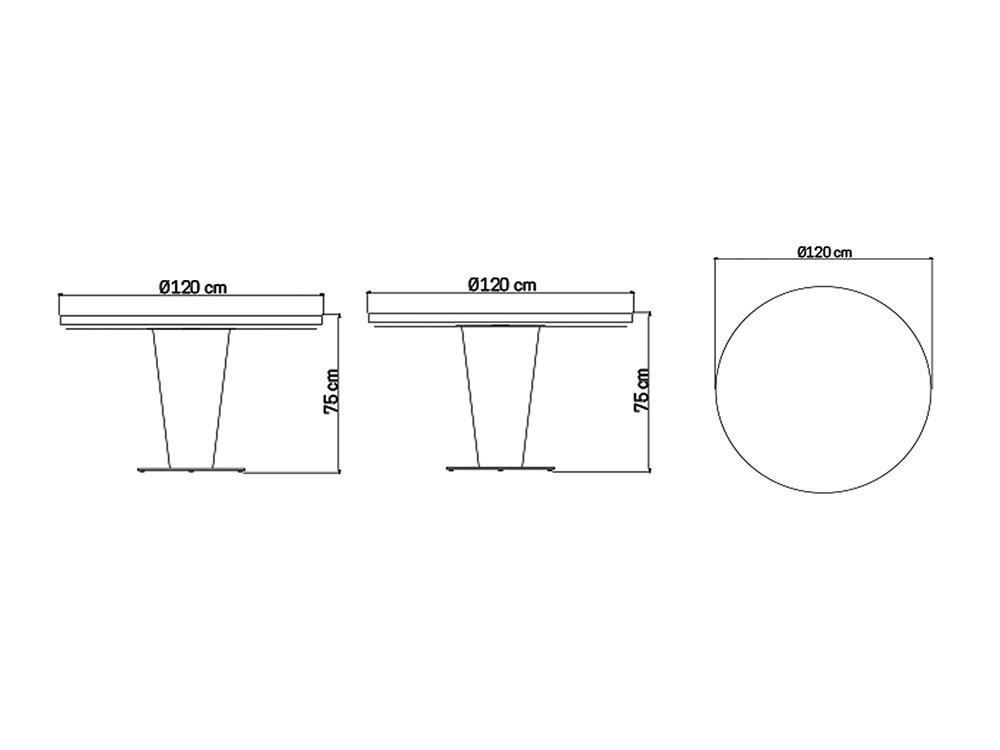 Mesa de comedor Dinasty Skyline Design - 9