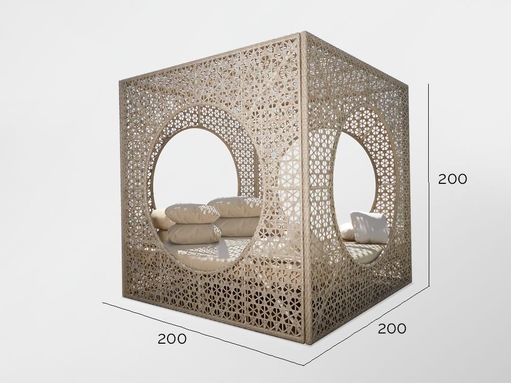Cama balinesa Cube Skyline Design - 4