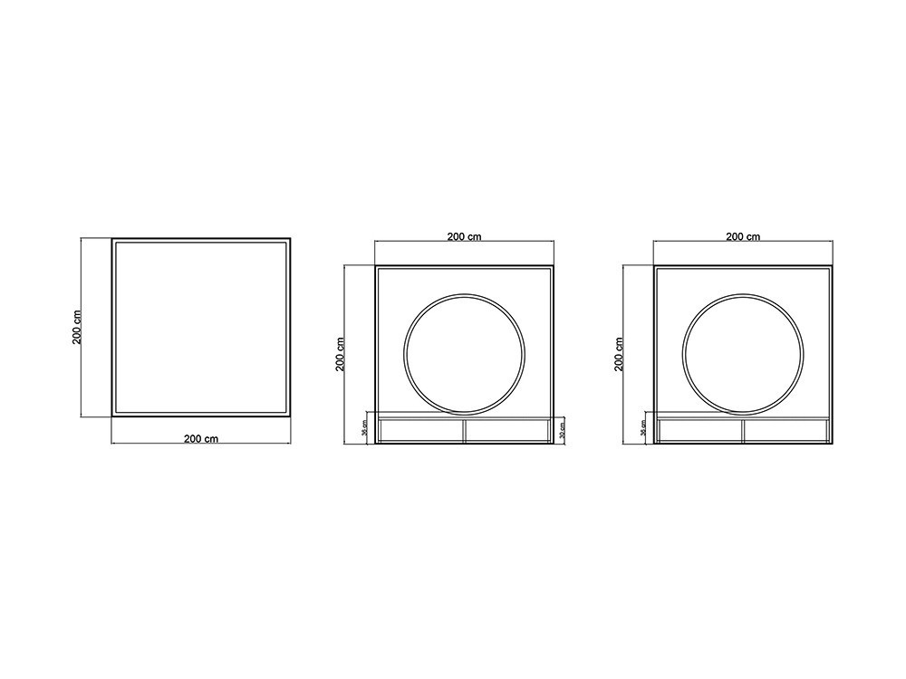Cama balinesa Cube Skyline Design - 12