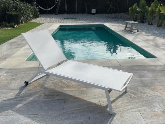 Tumbona reclinable con ruedas Menorca