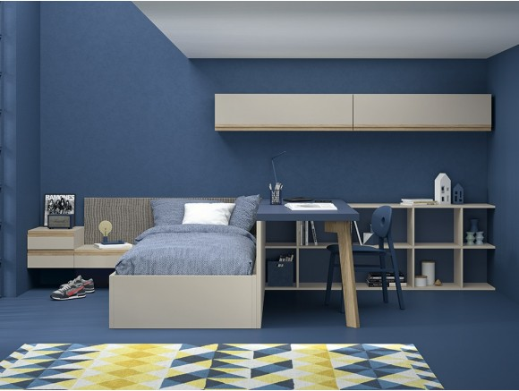 Cama modular Up con arcón elevable lateralmente Stay