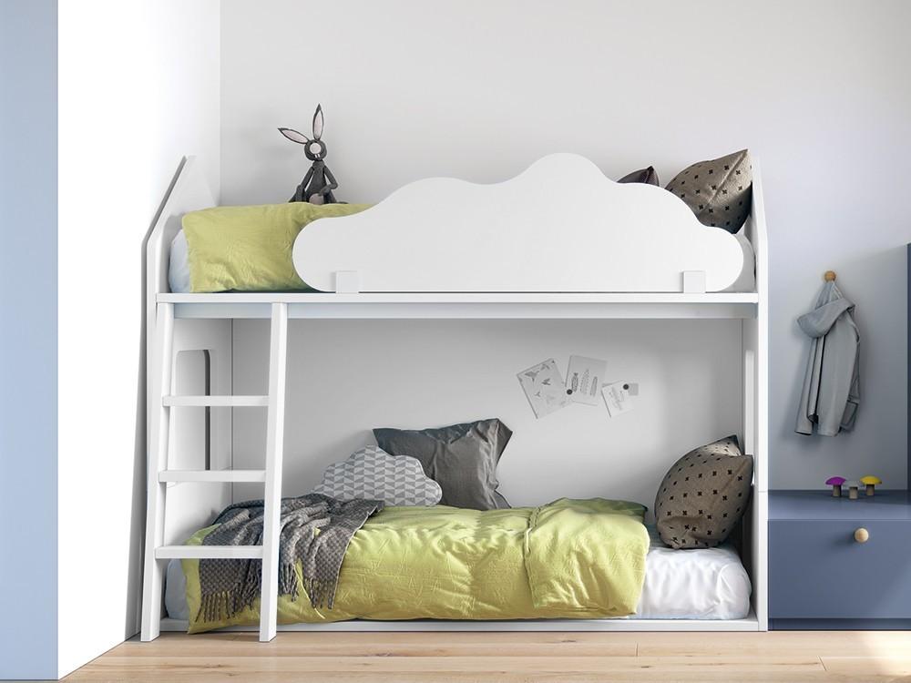 Litera casita tarima con nube quitamiedos monocolor Stay