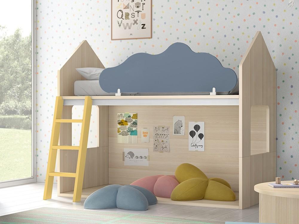 Litera casita Nordic con nube quitamiedos abatible Stay