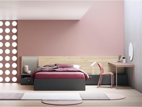 Dormitorio juvenil con cama doble con cabezal XYZ Stay
