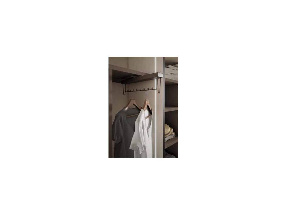 Armario empotrado de puertas batientes de espejo One Førum Mesegue - 3