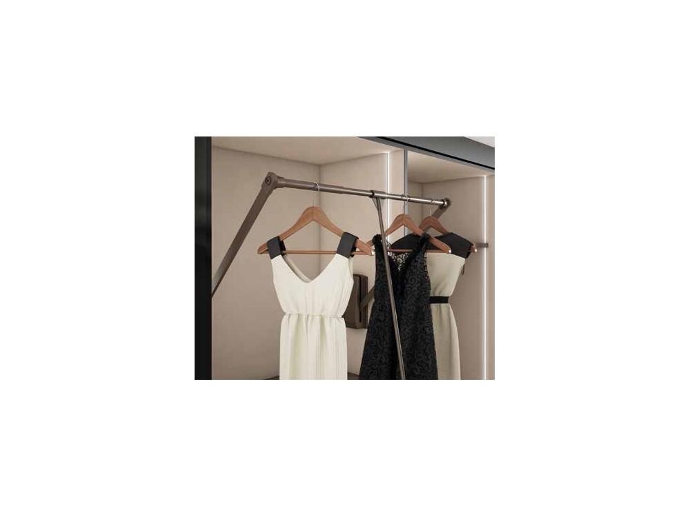 Armario empotrado de puertas batientes de espejo One Førum Mesegue - 4