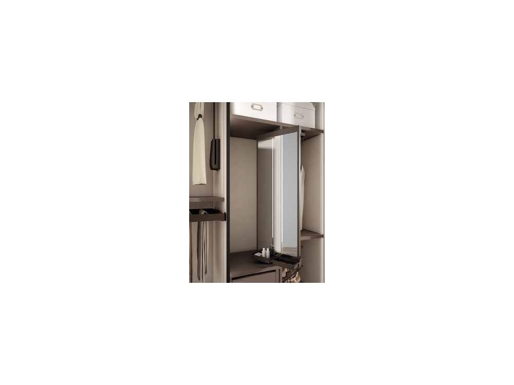 Armario empotrado de puertas batientes de espejo One Førum Mesegue - 6