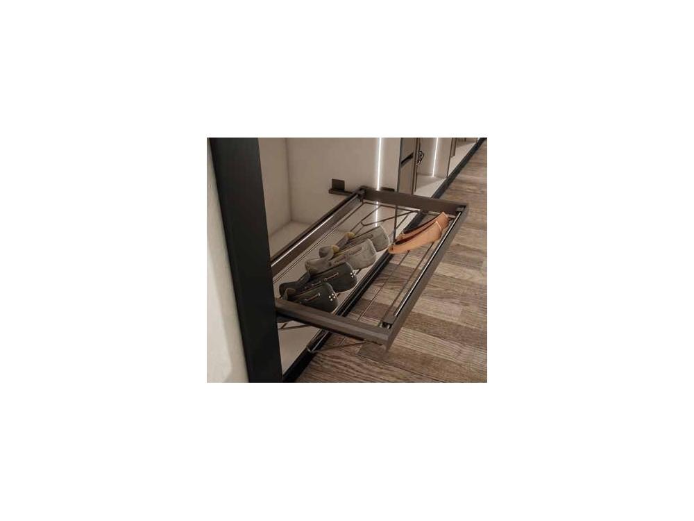 Armario empotrado de puertas batientes de espejo One Førum Mesegue - 7