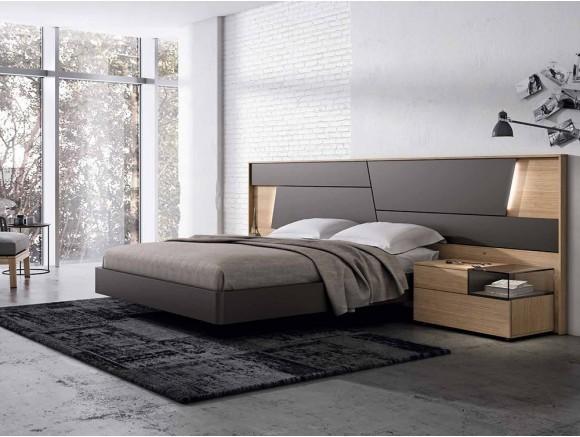 Dormitorio con estructura de cama con cabecero Collage Gráfika Mesegue - 1