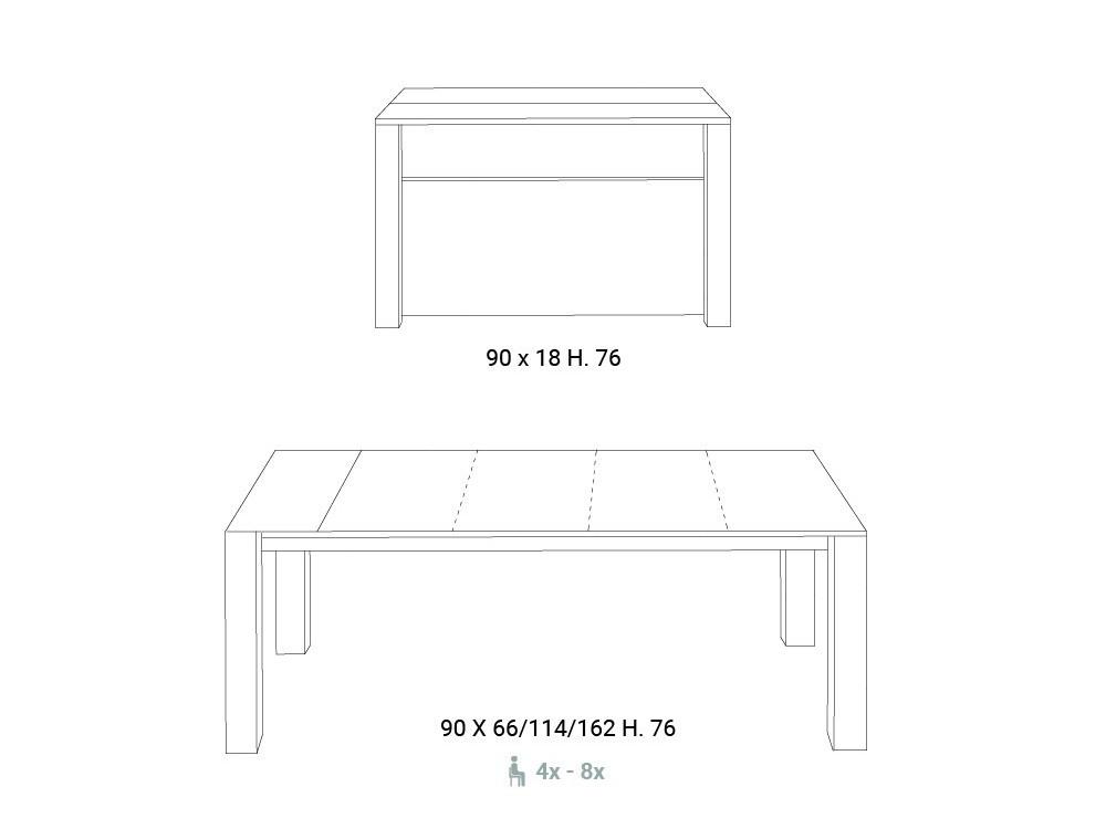 Mesa Consola Slimmy para espacios reducidos
