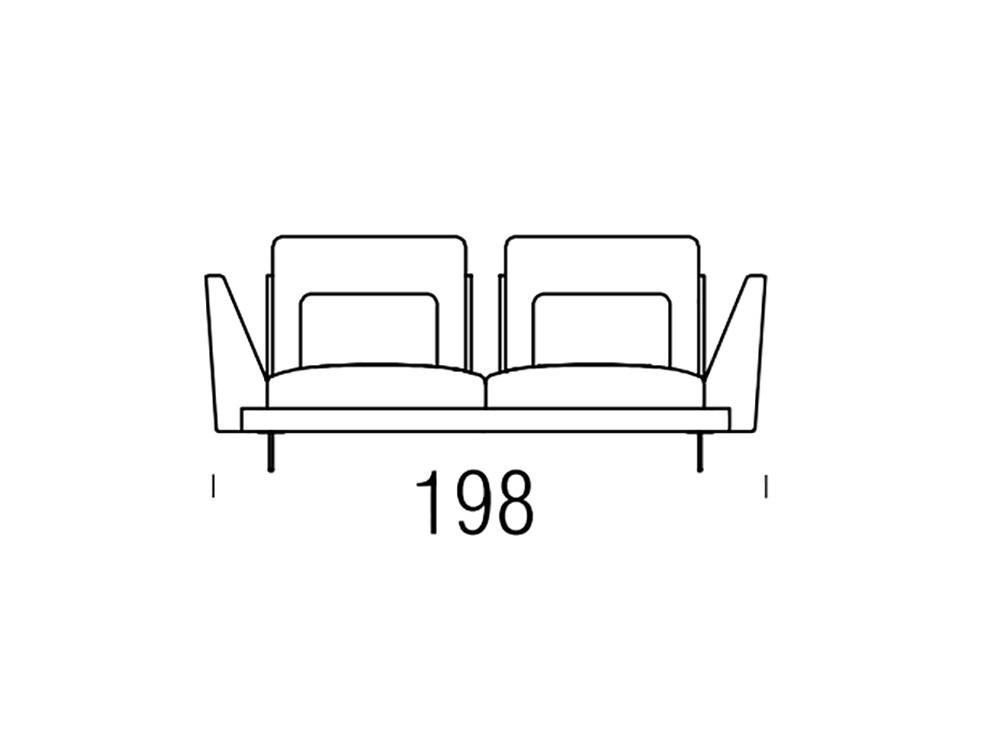 BELTÁ Sofá Moderno Wing