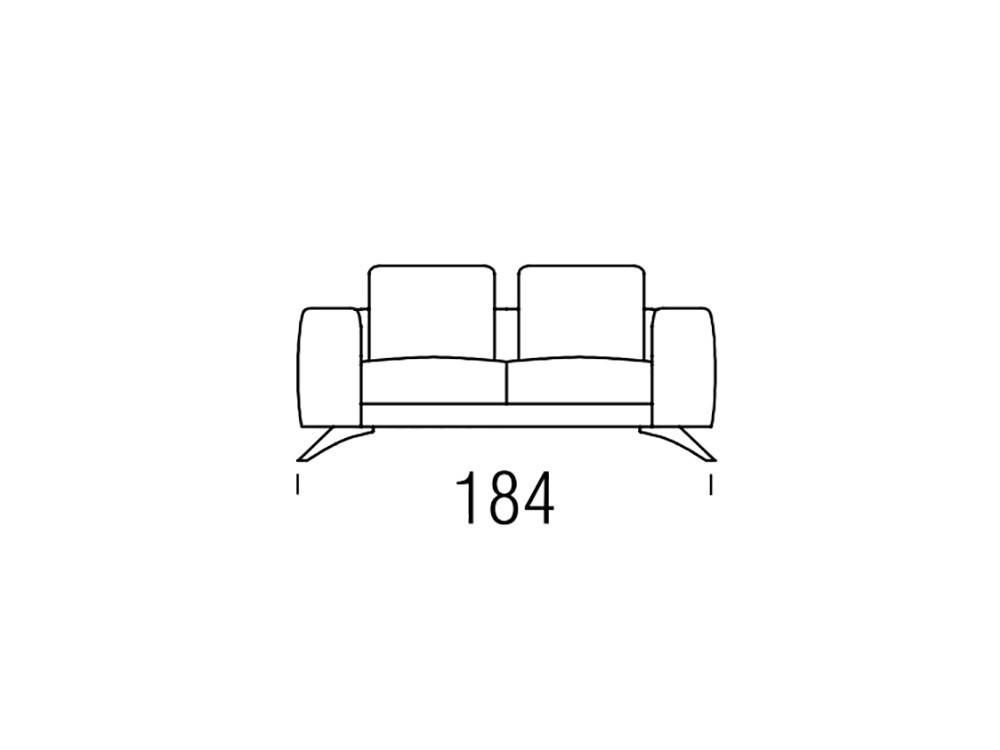 Sofá moderno Gues Frajumar - 3