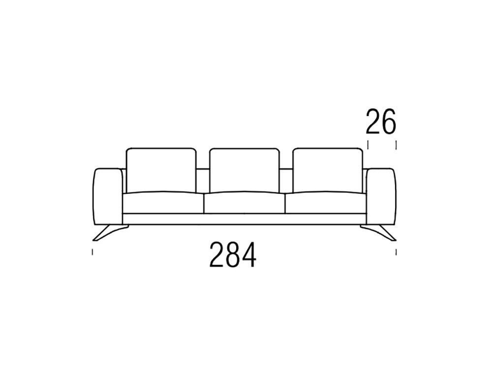 Sofá moderno Gues Frajumar - 6