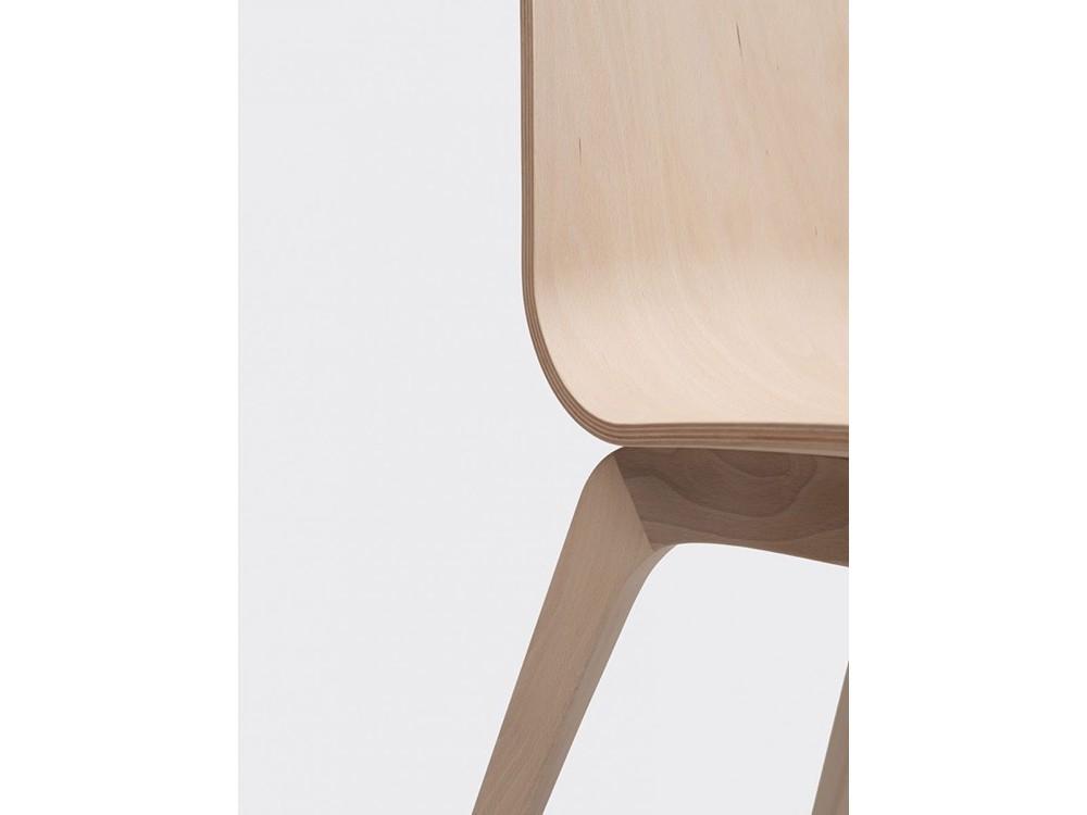 Silla Bob de madera de haya o roble