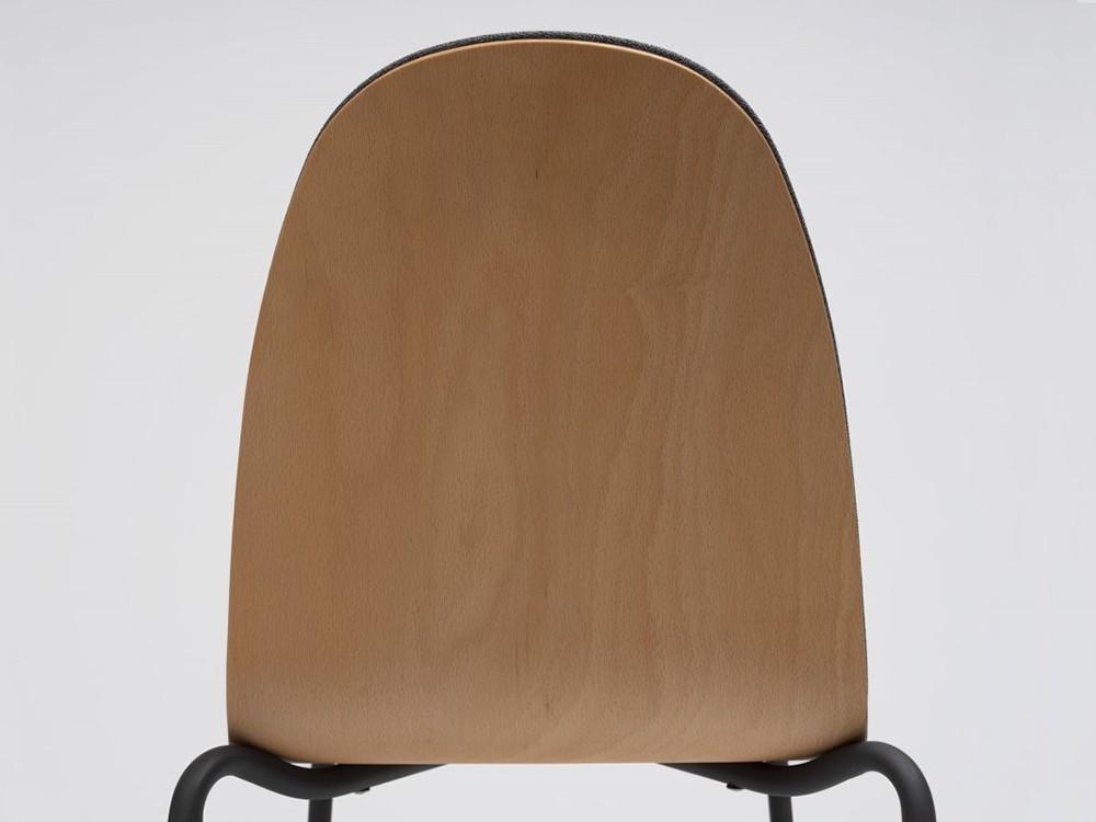 Silla Bob de acero y madera