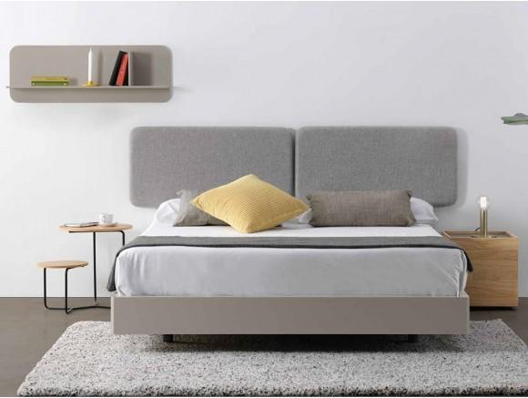 Dormitorio con cabecero tapizado Ona