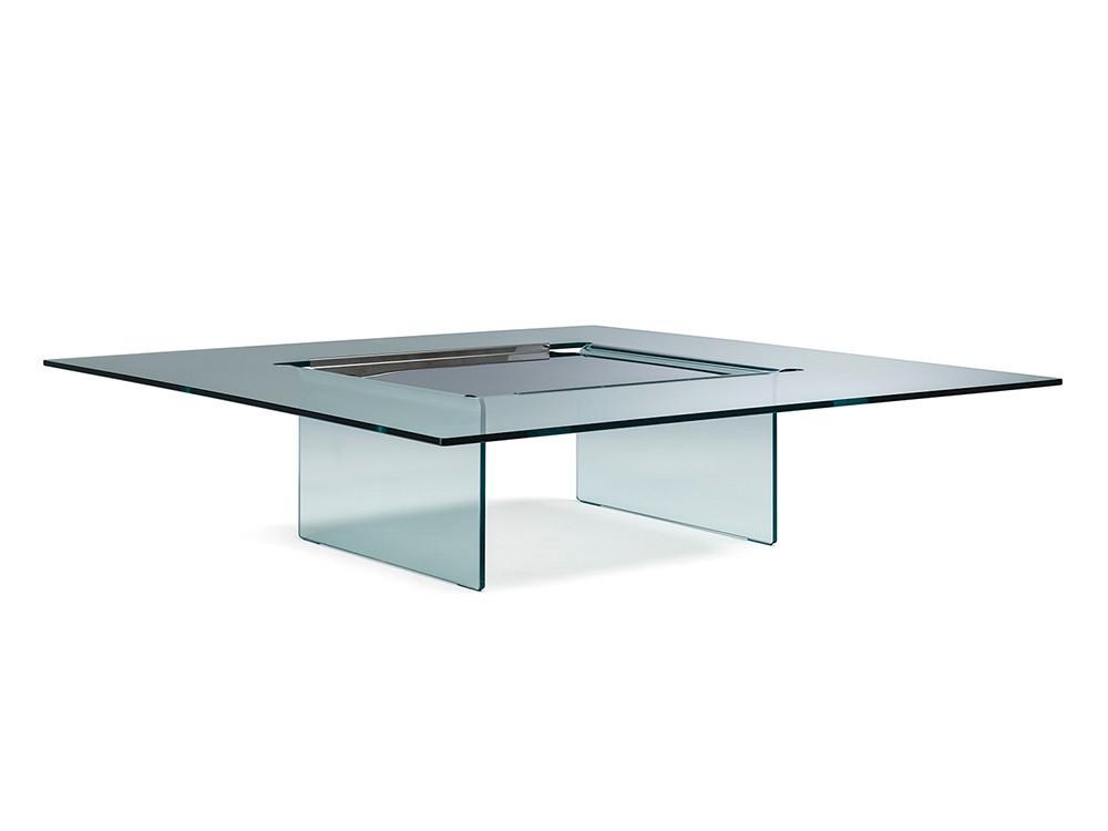 Mesa de centro en cristal Carré Cattelan Italia