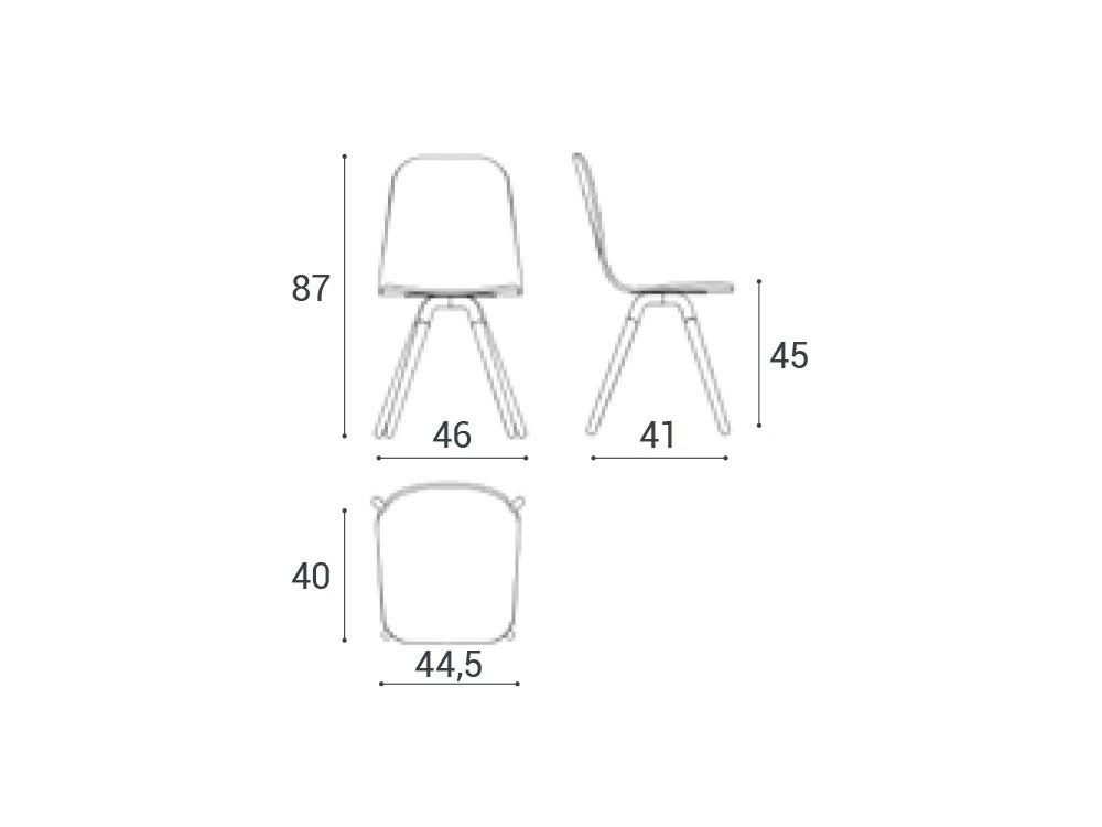 Silla de diseño nórdico Nuba Cancio - 8