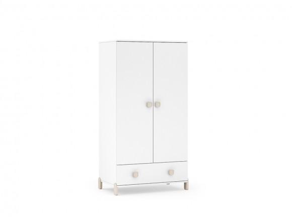 Armario con dos puertas y cajón Elemental en color gris perla