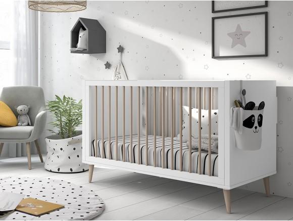 Cuna Metropoli para colchón de 60x120cm en color blanco
