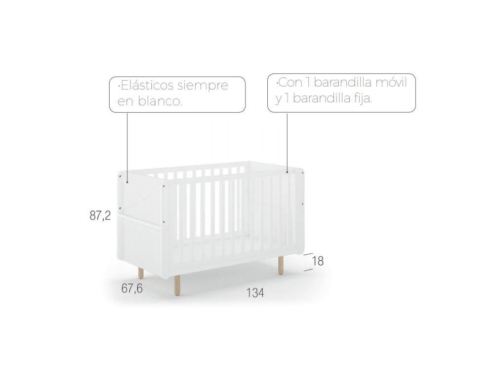 Cuna con portaobjetos lateral Fold Ros Mini - 4