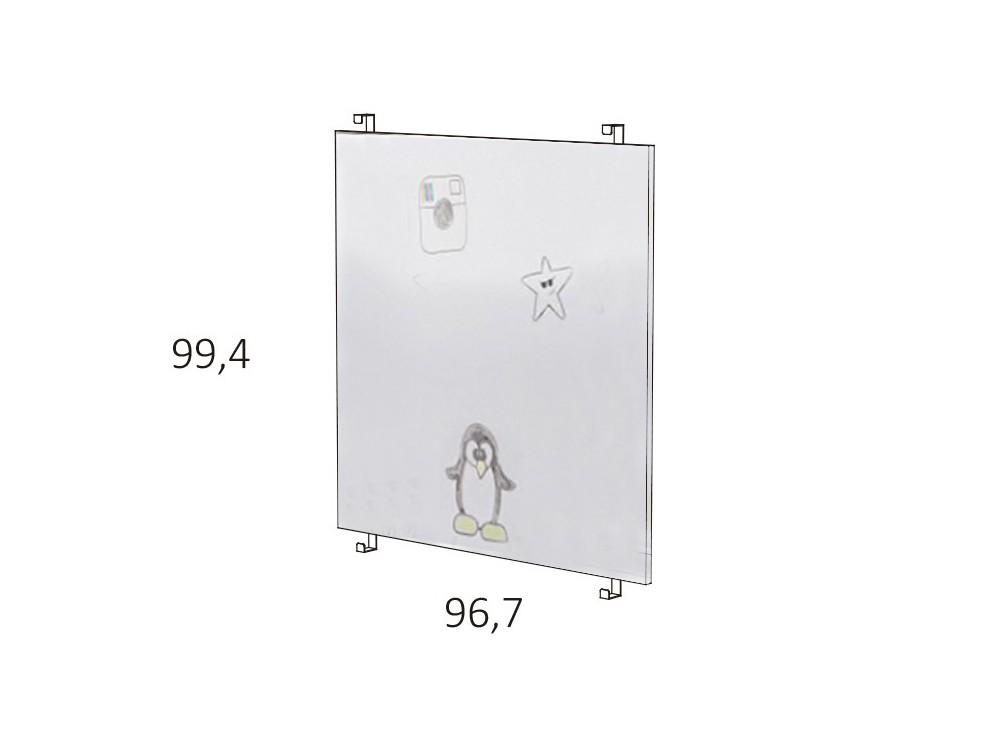 Panel ancho para cama casita de 90x190cm en acabado pizarra blanca