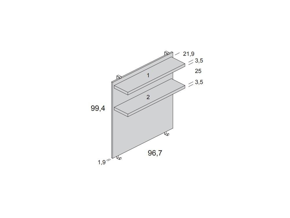 Medidas panel para cama casita con estantería