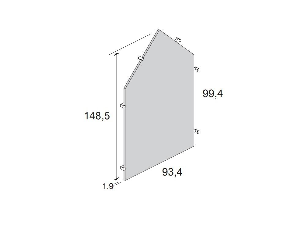 medidas Panel cabecero silueta para cama casita de 90x190cm
