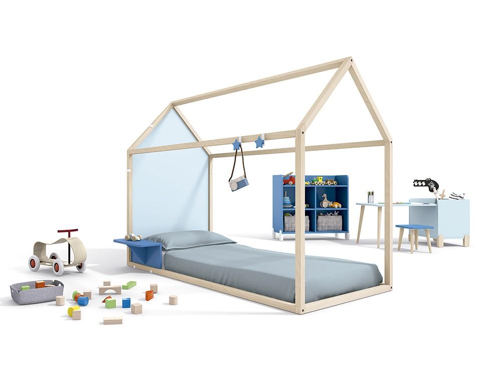 Panel cabecero silueta para cama casita de 90x190cm