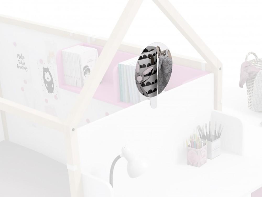 Espejo redondo para panel de la cama casita Montessori