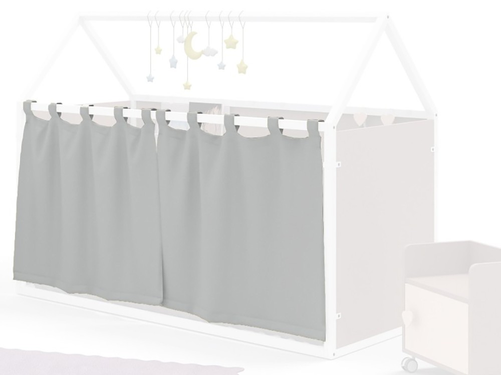 Cortinas para cama casita 90x190cm