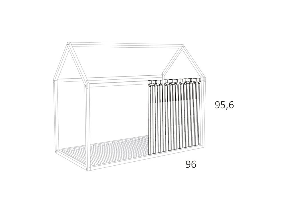 medidas Cortinas para cama casita 90x190cm