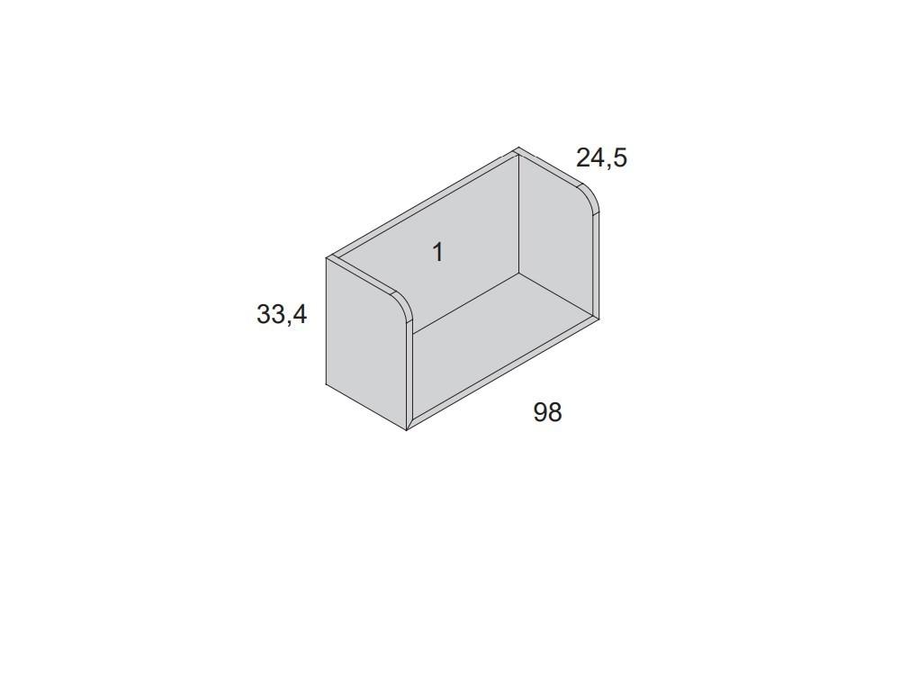 medida estante con laterales 98cm