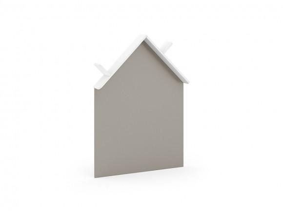 Pizarra silueta de casita con estante para libros ros mini mood blanco
