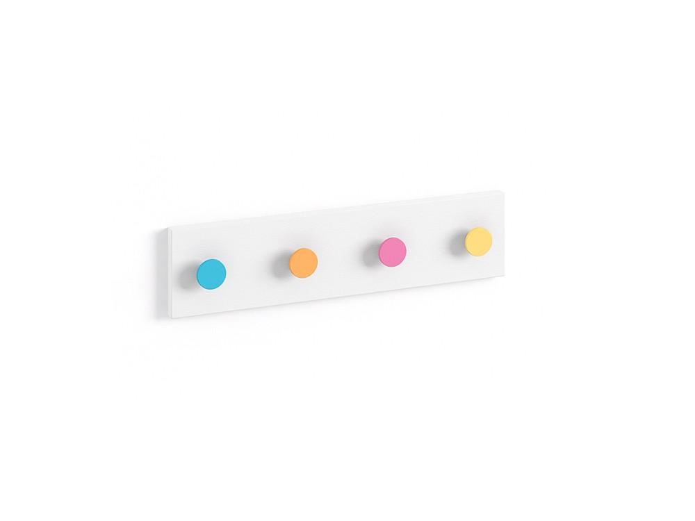 perchero con cuatro colgadores de colores ros mini mood