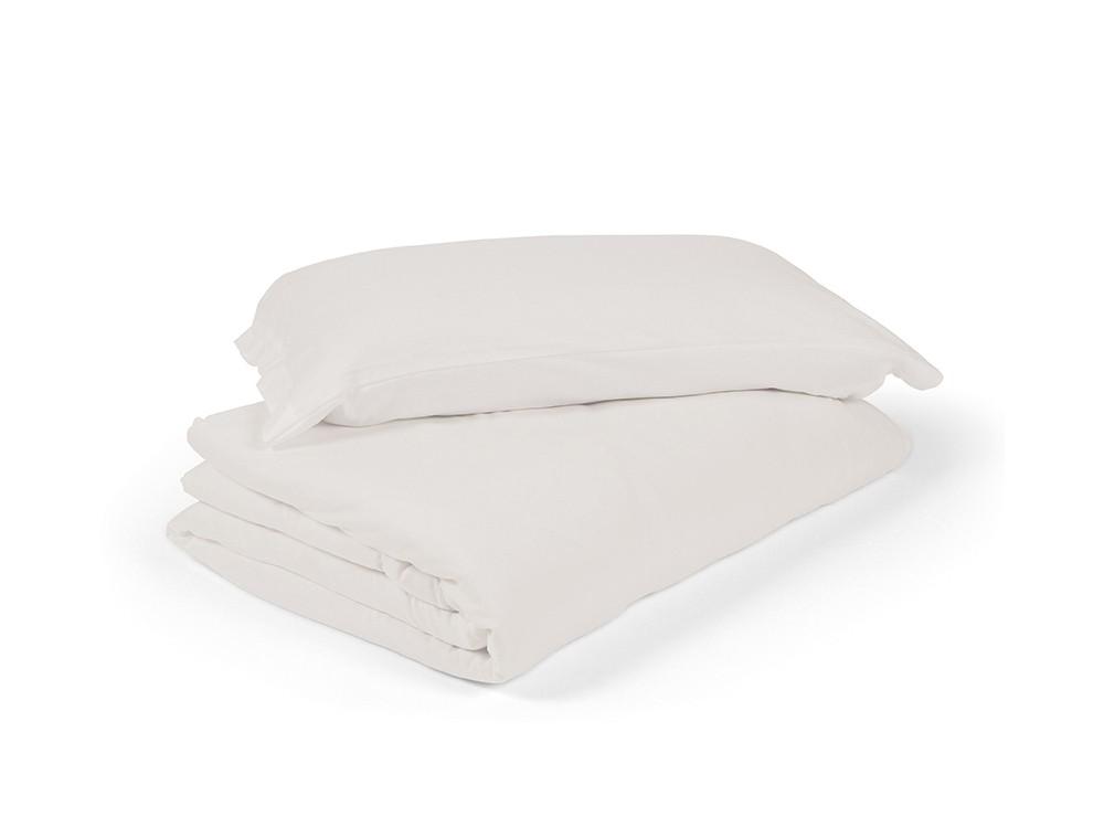 funda nórdica para cama en color liso lino