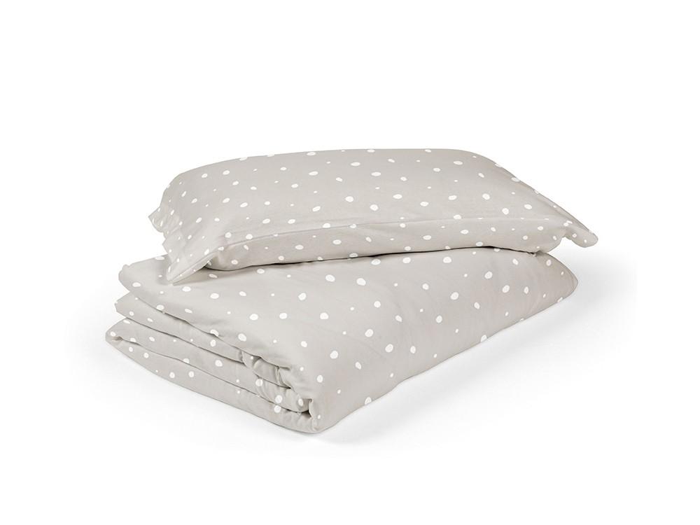 funda nórdica para cama dots caliza