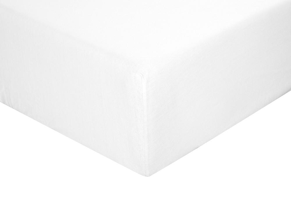 Sábana bajera para cama individual o doble color blanca